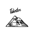 mountain logo template hill for labels or emblems vector image