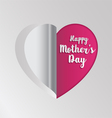 Pink paper heart folding vector image vector image