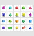 realistic 3d geometric shapes basic geometry