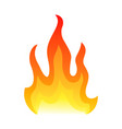 Red fire flat icon isolated on white background