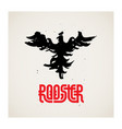 rooster logo template with original lettering vector image