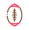 rugby ball icon outline vector image vector image