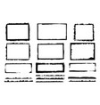 set of grunge frames rough dirty messy edges vector image