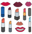 set of lipsticks vector image