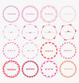 set of round frames for decoration vector image vector image