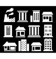set white urban buildings vector image