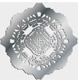 Silver ornamental pattern vector image vector image