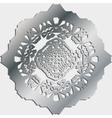 Silver ornamental pattern vector image vector image