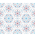 Small Blue and Red Flower Dots Pattern vector image vector image