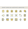 smart home icon set 48x48 pixel perfect vector image