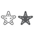 starfish line and glyph icon animal vector image