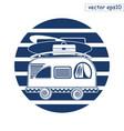 summer van logo vector image