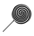 sweet stick lollipop icon simple style vector image