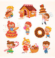 sweet tooth funny cartoon character set vector image vector image