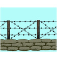 Trenches of world war one sandbags vector image vector image