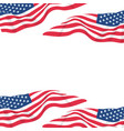 usa flag in white background vector image