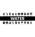 water treatment minimal infographic banner vector image