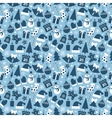 Winter icons seamless vector image vector image