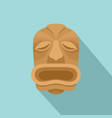 wood made tiki icon flat style vector image vector image