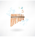 flute grunge icon vector image