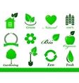 eco icons set vector image