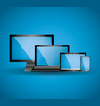 set of display laptop tablet computer and mobile vector image