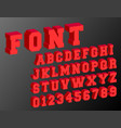 3d alphabet font template vector image vector image