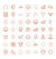 49 head icons vector image vector image