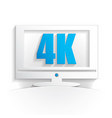 4k tv icon vector image vector image