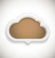 Abstract speech cloud vector image