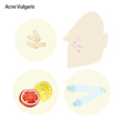 Acne Vulgaris and Take Care Facial Skin vector image