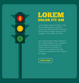 background of traffic light and vector image vector image