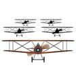 biplane squadron vector image vector image