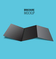 black brochure design isolated on blue realistic vector image vector image