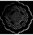 Black ornamental pattern vector image vector image