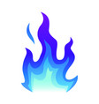 blue fire icon flat fire flame vector image vector image