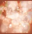 bokeh defocused christmas lights beautiful vector image vector image