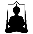 buddha silhouette vector image