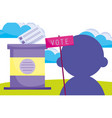 candidate campaign political election democracy vector image