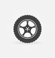 car wheel with tyre concept icon vector image vector image