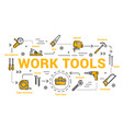 carpentry and woodwork tools diy toolkit vector image