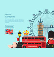 cartoon london sights vector image vector image