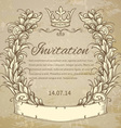 cartouche with ribbon vector image