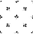 cherry leaves pattern seamless black vector image vector image