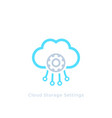 cloud storage settings icon vector image vector image