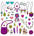 collection boho style elements vector image vector image