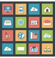 Communication icons set flat design vector image vector image