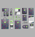 corporate identity template set with hand drawn vector image vector image