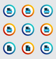 document icons colored set with file ico file vector image vector image