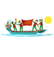 dragons boat flat colorful banner vector image
